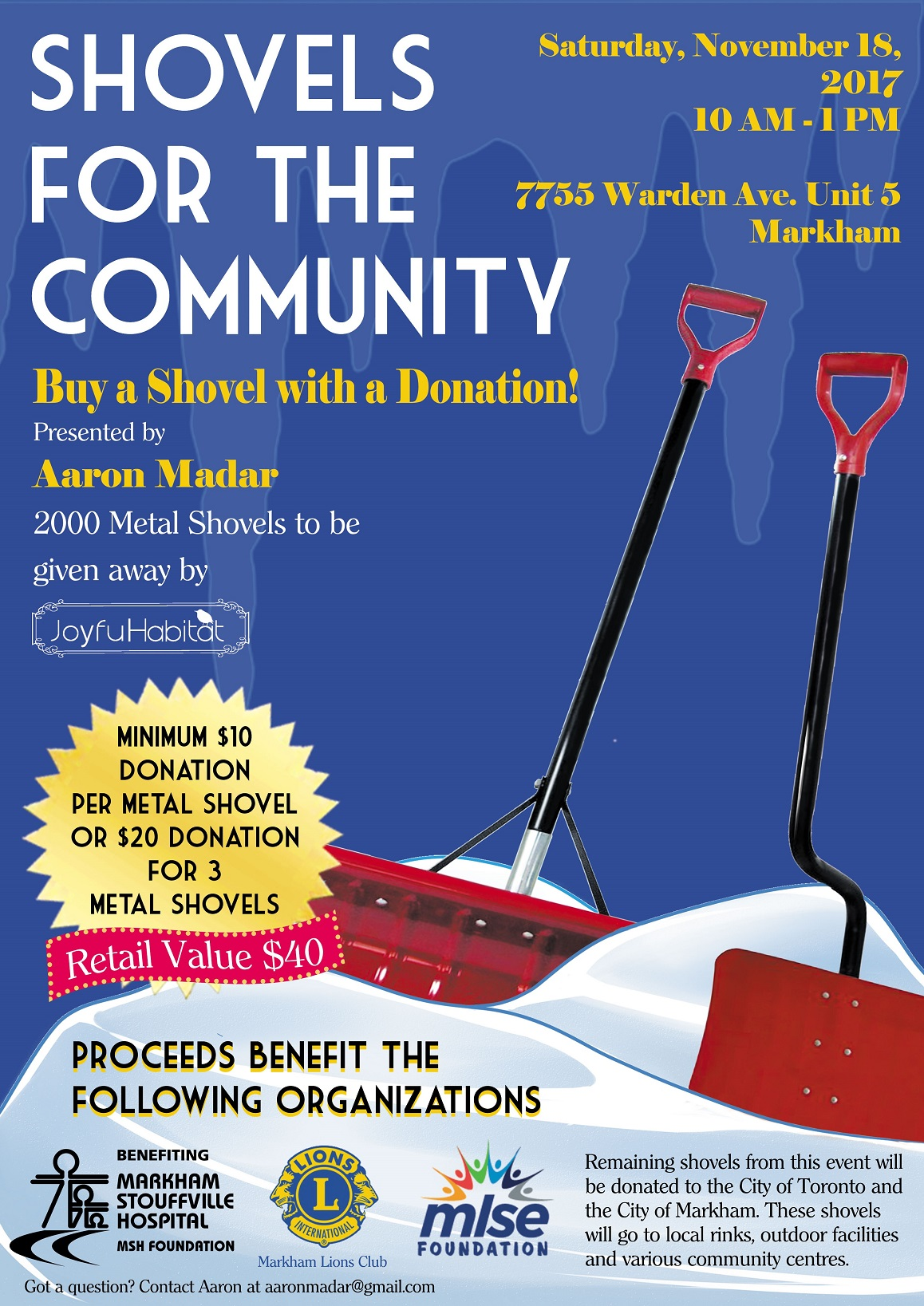 Shovels for the Community