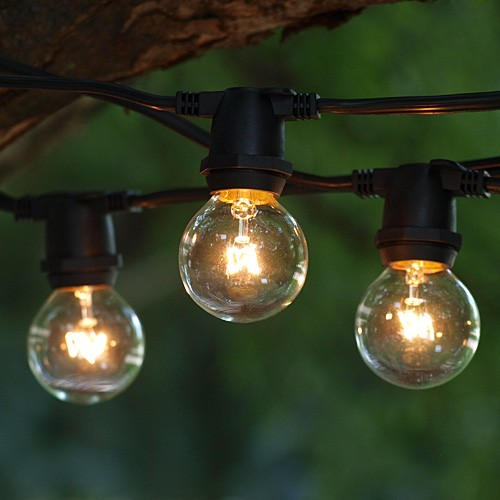 25 Ft. 16AWG Wire Outdoor Commercial Grade String Lights ID0052-GL0 (Black)