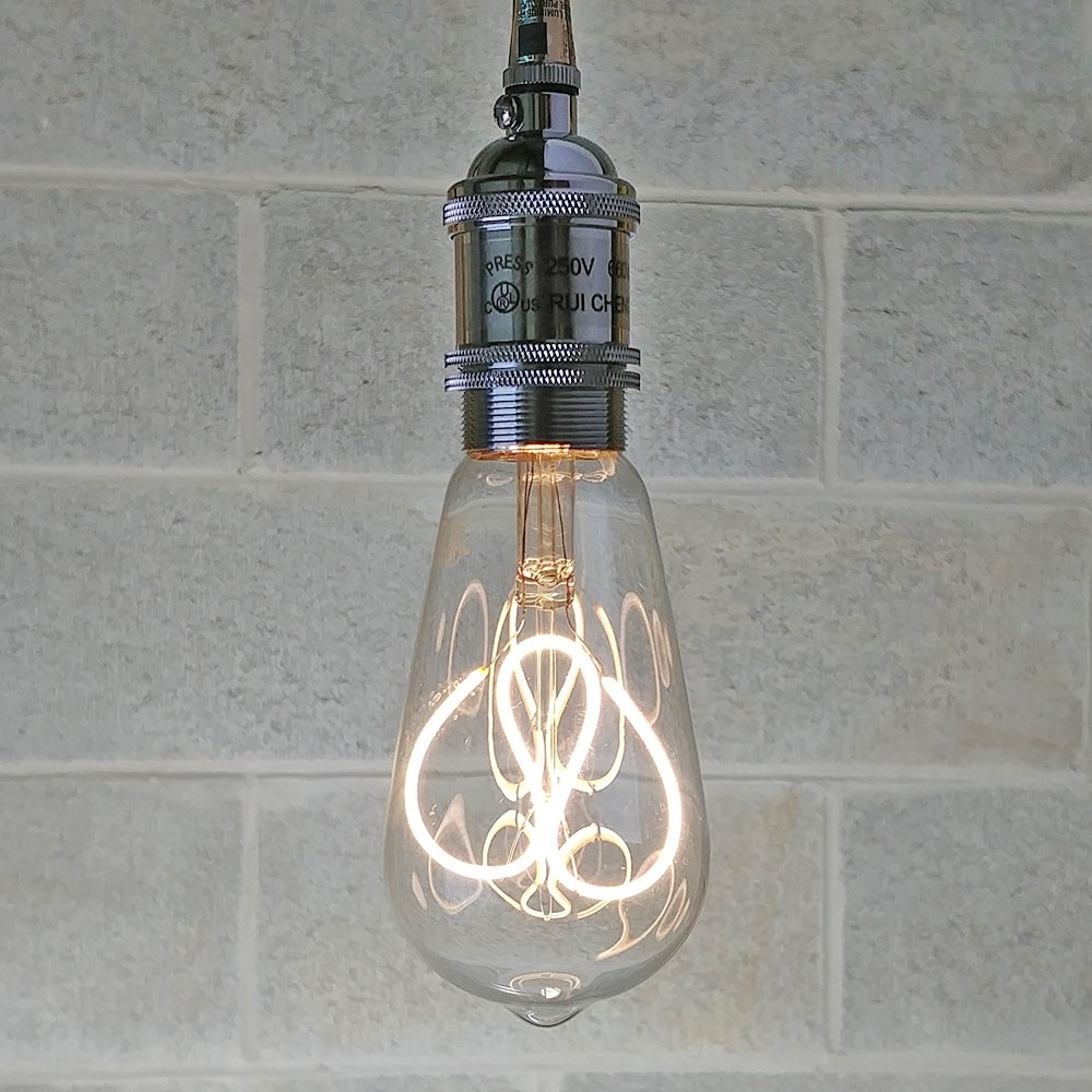 ST64 Vintage Edison LED Bulb ON