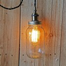 Metallic Socket with Twisted Cord Mason Jar Light DIY Kit (Black & Antique Brass)