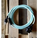 Colour cord pendant lights (BABY BLUE)