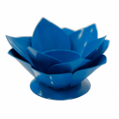 Floral Candle Holder (Blue)